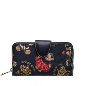 W002-Double-Sided-Ladies-Purse-Crown-Bear-Front