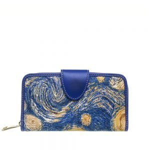 W002-Double-Sided-Ladies-Purse-Starry-Sky-Front