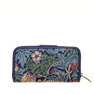 W002-Double-Sided-Ladies-Purse-Strawberry-Thief-Back