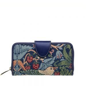 W002-Double-Sided-Ladies-Purse-Strawberry-Thief-Front