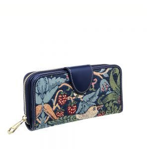 W002-Double-Sided-Ladies-Purse-Strawberry-Thief-Side