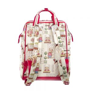 275-Backpack-Floral-Bear-Back