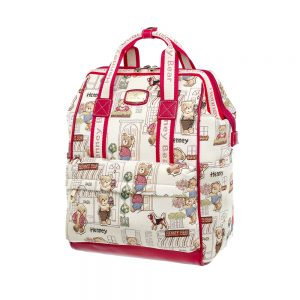 275-Backpack-Floral-Bear-Side