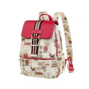 290-Backpack-Floral-Bear-Side