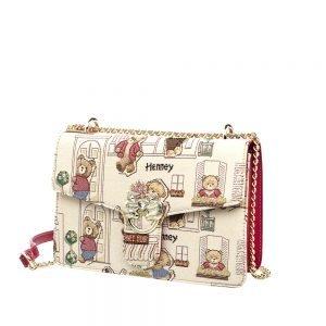 330-Medium-Envelope-Chain-Bag-Floral-Bear-Back