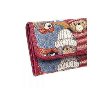 W062-Cali-Trifold-Wallet-Purse-Cute-Bear-Details