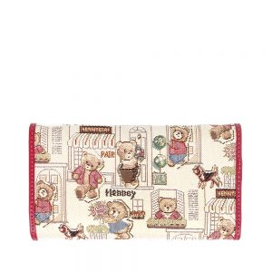 W062-Cali-Trifold-Wallet-Purse-Floral-Bear-Back