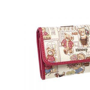 W062-Cali-Trifold-Wallet-Purse-Floral-Bear-Details
