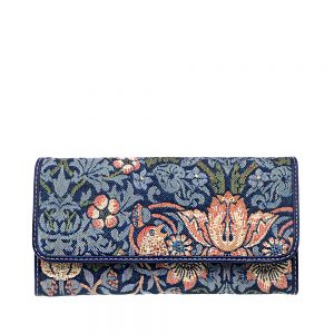 W062-Cali-Trifold-Wallet-Purse-StrawberryThief-Front