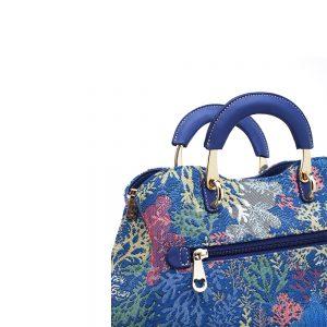 338-Medium-Top-Handle-Bag-Coral-Bear-Detail