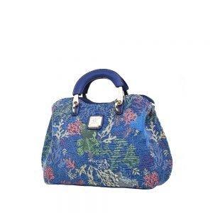 338-Medium-Top-Handle-Bag-Coral-Bear-Side