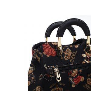 338-Medium-Top-Handle-Bag-Crown-Bear-Detail