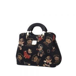 338-Medium-Top-Handle-Bag-Crown-Bear-Side