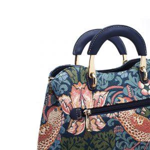 338-Medium-Top-Handle-Bag-Strawberry-Thief-Detail