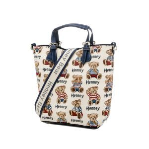 356-TopHandle-Crossbody-Stripe-Bear-Side