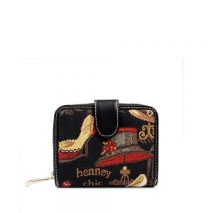 W100-Ada-Short-Wallet-Gold-Shoe-And-Hat-Front