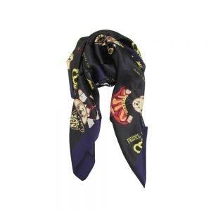 J002-SquareSlikScarf-CrownBear
