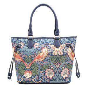 002-INGRID-Top-Handle-CarryAll-Bag-Strawberry-Thief-Back