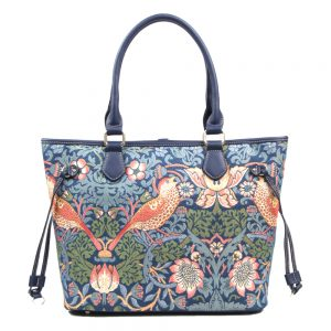 002-INGRID-Top-Handle-CarryAll-Bag-Strawberry-Thief-Front