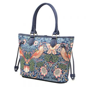 002-INGRID-Top-Handle-CarryAll-Bag-Strawberry-Thief-Side