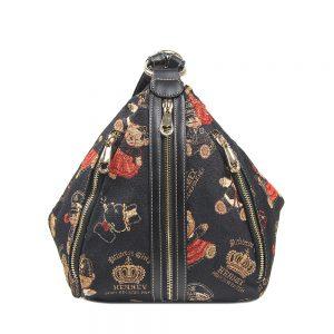 296-TARA-Backpack-Shoulder-Bag-Lightweight-Crown-Bear-Front