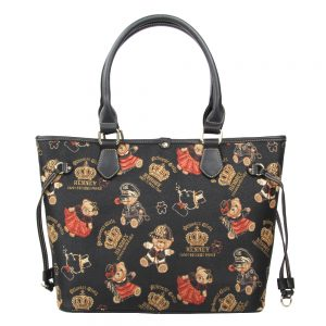 002-INGRID-Top-Handle-CarryAll-Bag-Henney-Bear-Crown-Bear-Front