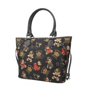 002-INGRID-Top-Handle-CarryAll-Bag-Henney-Bear-Crown-Bear-Side