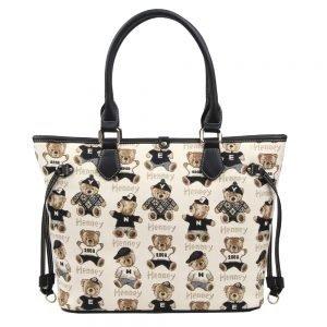002-INGRID-Top-Handle-CarryAll-Bag-Henney-Bear-Password-Bear-Back