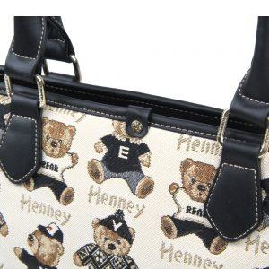 002-INGRID-Top-Handle-CarryAll-Bag-Henney-Bear-Password-Bear-Details