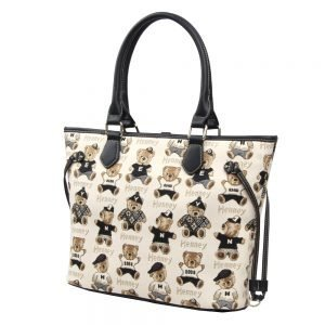 002-INGRID-Top-Handle-CarryAll-Bag-Henney-Bear-Password-Bear-Side