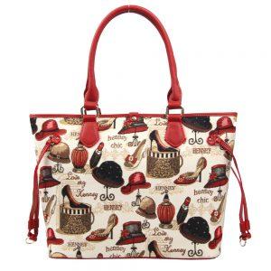 002-INGRID-Top-Handle-CarryAll-Bag-Henney-Bear-Shoe-And-Hat-Back