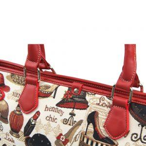 002-INGRID-Top-Handle-CarryAll-Bag-Henney-Bear-Shoe-And-Hat-Details