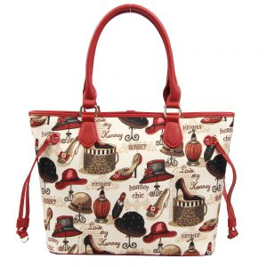 002-INGRID-Top-Handle-CarryAll-Bag-Henney-Bear-Shoe-And-Hat-Front