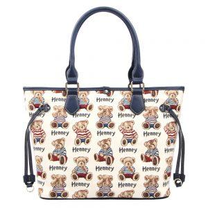 002-INGRID-Top-Handle-CarryAll-Bag-Henney-Bear-Stripe-Bear-Back