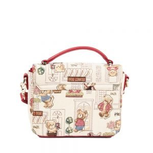 065-KAI-Top-Handle-Corssbody-Bag-Floral-Bear-Back