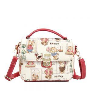 065-KAI-Top-Handle-Corssbody-Bag-Floral-Bear-Front
