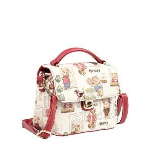 065-KAI-Top-Handle-Corssbody-Bag-Floral-Bear-Side