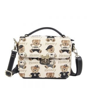065-KAI-Top-Handle-Corssbody-Bag-Password-Bear-Front