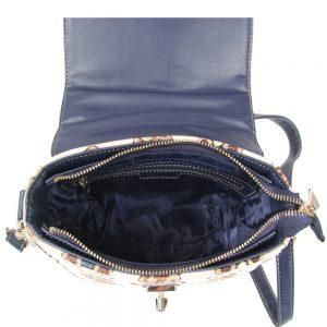 065-KAI-Top-Handle-Corssbody-Bag-Stripe-Bear-Open