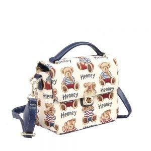 065-KAI-Top-Handle-Corssbody-Bag-Stripe-Bear-Side